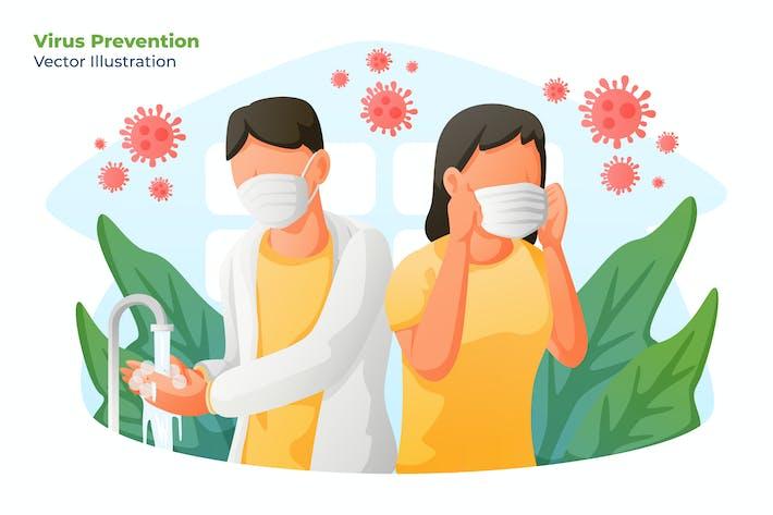 Thumbnail for VIRUS PREVENTION - Vector Illustration