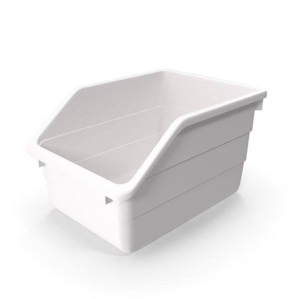 White Plastic Storage Bin