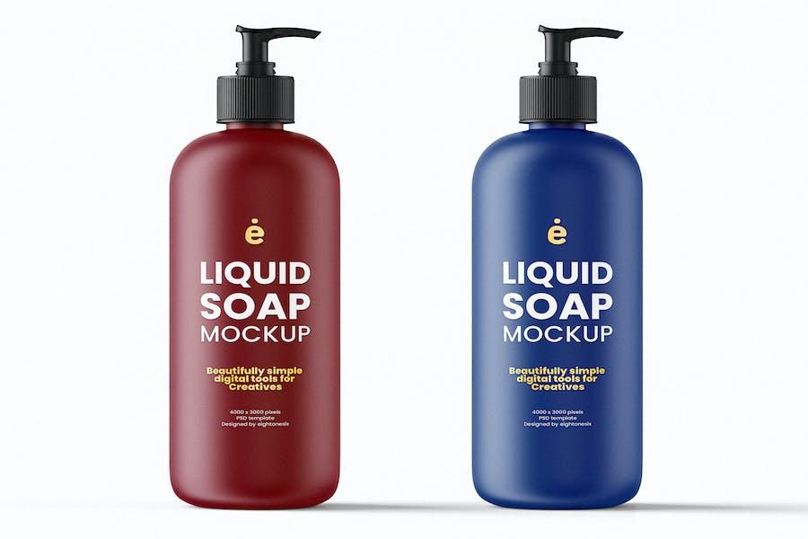 Liquid Soap Mockup Template