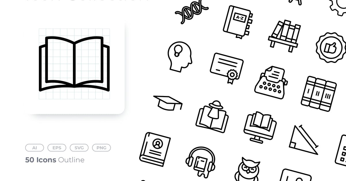 Download Literacy Outline Icon by GoodWare_Std