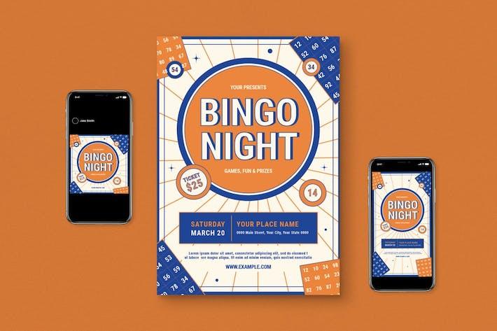 Bingo Night Flyer Set