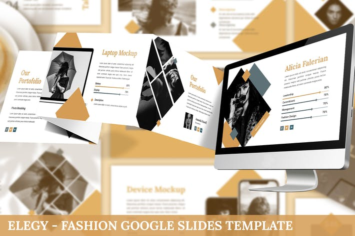 Cover Image For Elegy - Fashion Google Slides Template