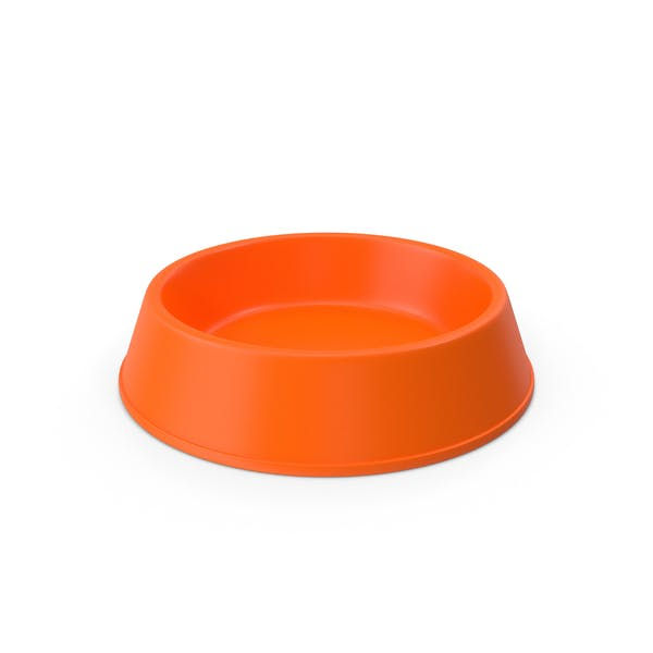 Pet Food Bowl Orange