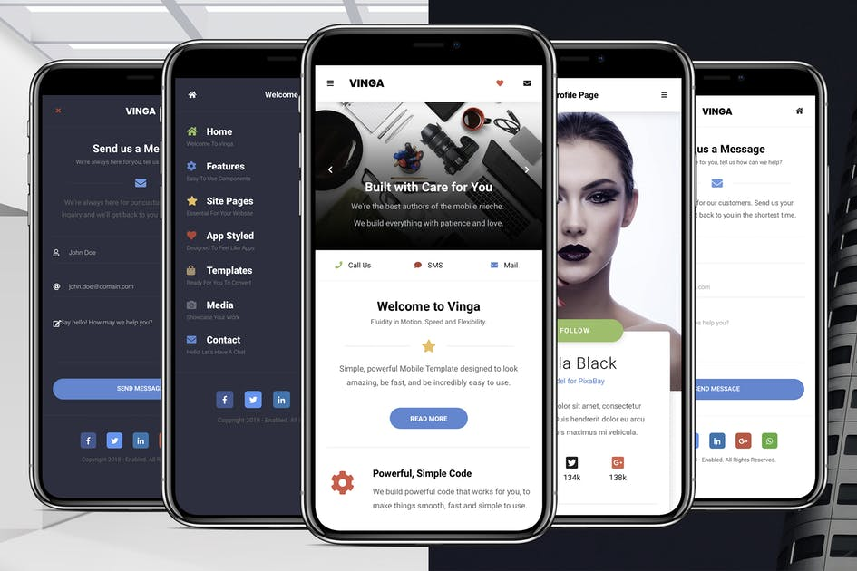 Download Vinga Mobile | Mobile Site Template by Enabled