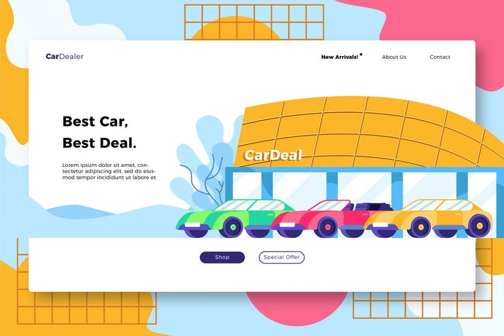 Thumbnail for Car Dealership - Banner & Landing Page
