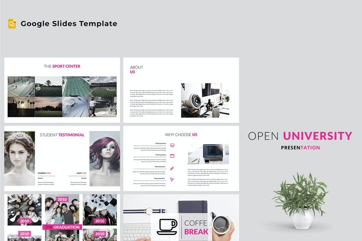 Thumbnail for Open University Google Slides Template