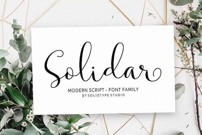 Thumbnail for Solidar Font Family