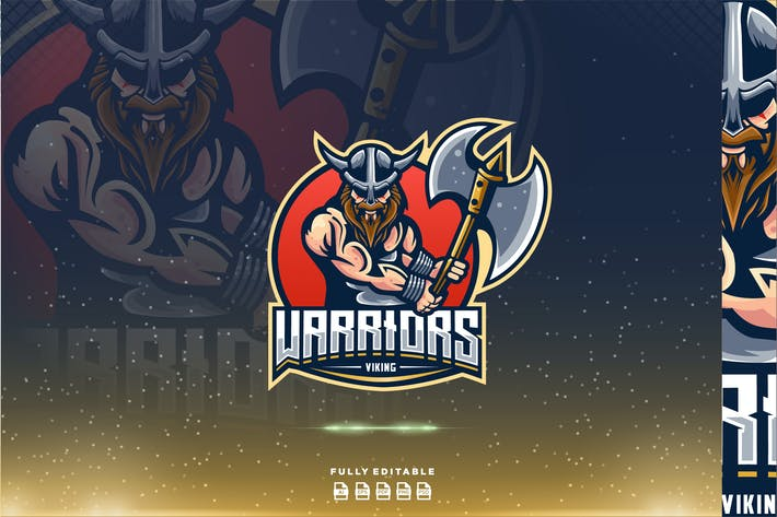 Thumbnail for Warrior Viking Axe E-sport Logo