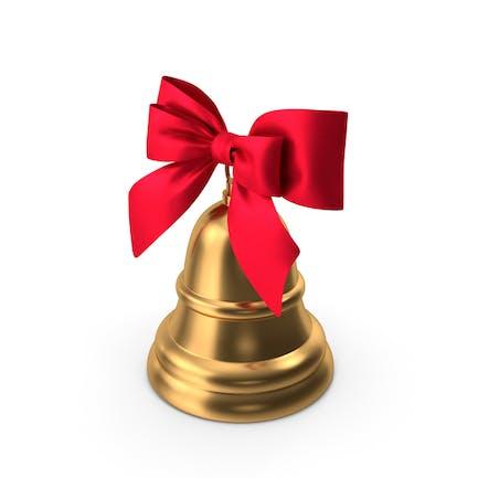Рождественский колокольчик с красным бантом