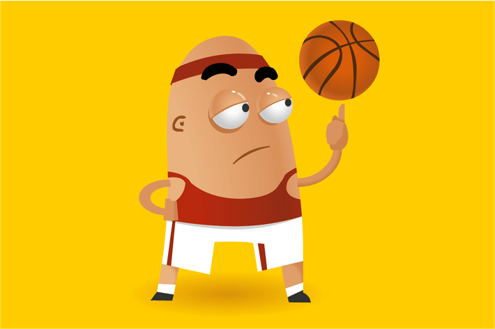 Thumbnail for Basketball spinning ball on finger