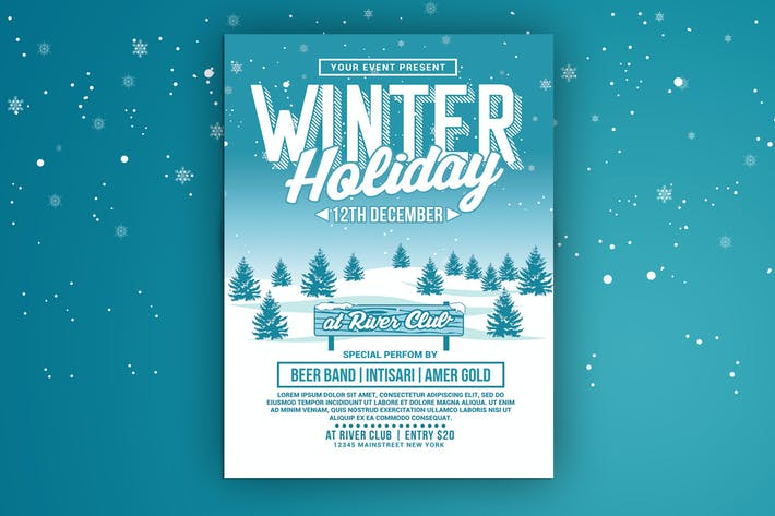 Thumbnail for Winter Holiday Party Flyer