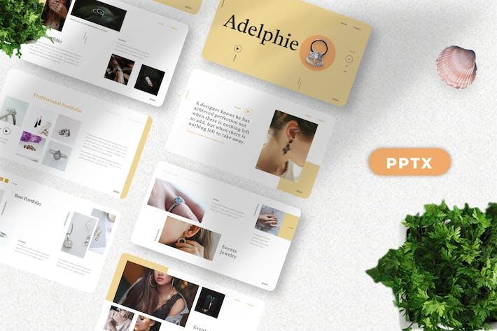 Thumbnail for Adelphie - Ювелирный продукт Powerpoint Шаблон