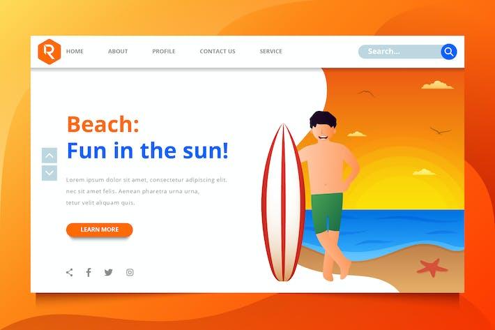 Thumbnail for Enjoy On The Beach Web Header Template