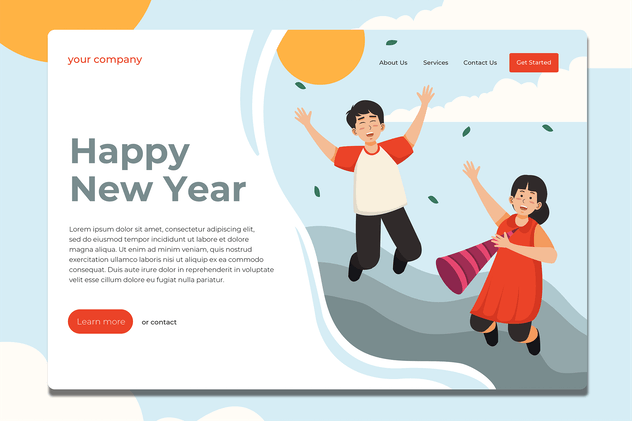 Happy New Year - Landing Page