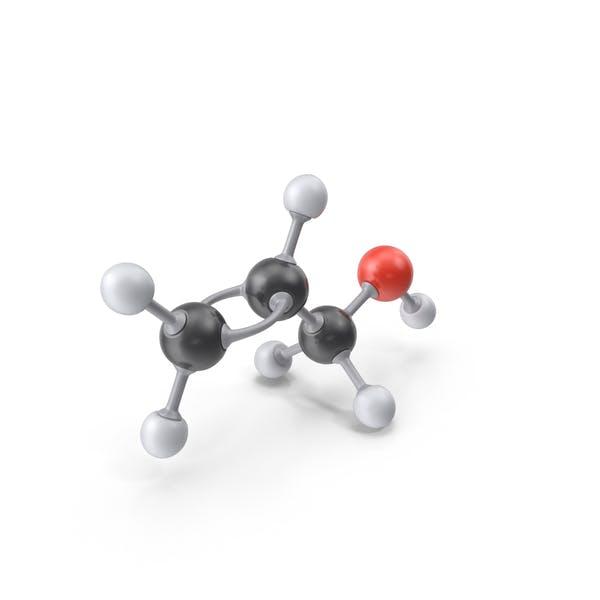 Molécula de alcohol alílico