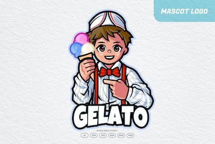 Gelato Chef Restaurant Mascot Logo