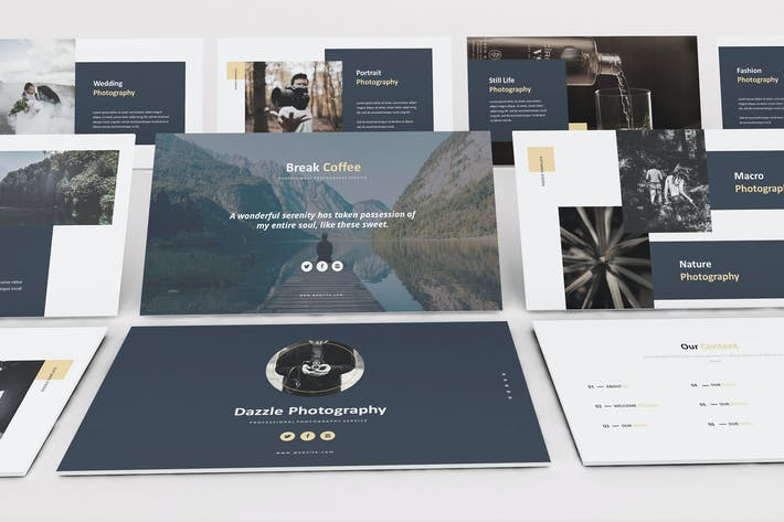 Dazzle Photography Google Slides Template