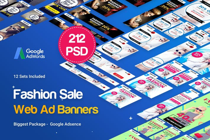 Thumbnail for Fashion Banner Ad - 212 PSD [12 Sets]