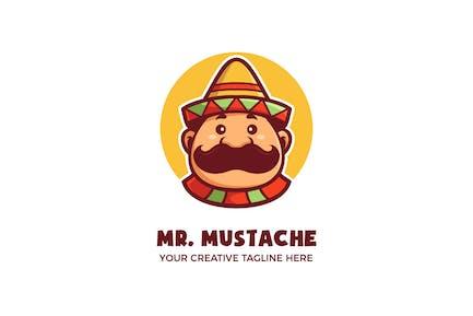 Cute Mexican Man Cartoon Mascot Logo Template