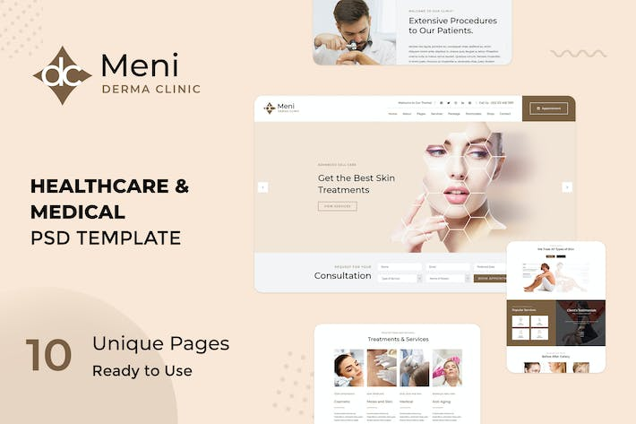 Cover Image For Meni | Dermatology and Medical PSD Template