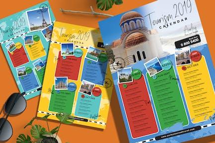 Tourism Events Kalender Flyer