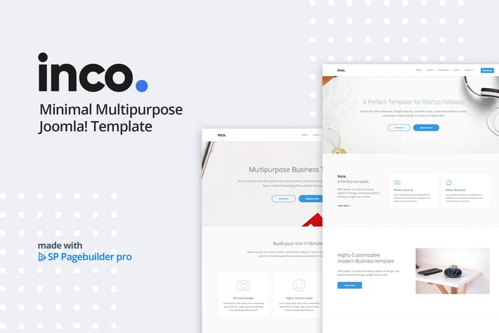 Thumbnail for Inco - Multipurpose Joomla! Template