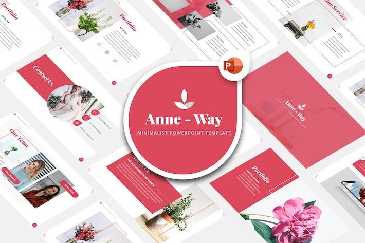 Thumbnail for Anne Way - Минималистский Шаблон Powerpoint