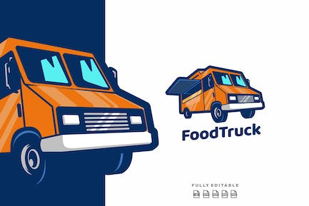 Food Truck Delivery Logo Template