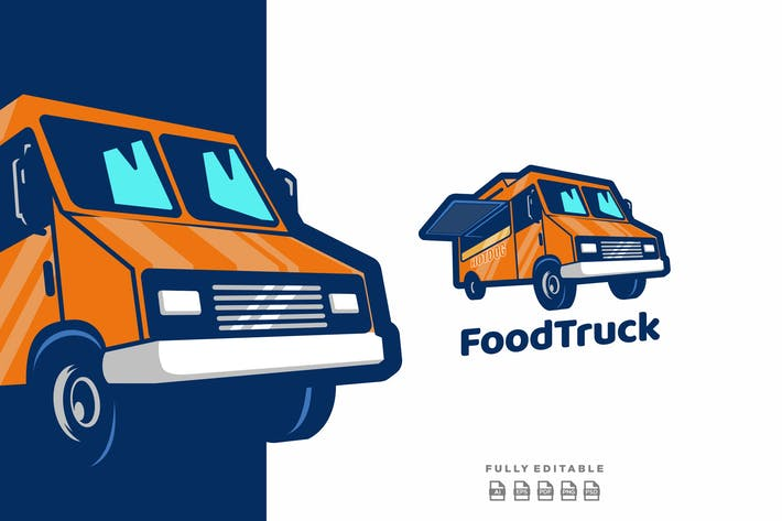 Thumbnail for Food Truck Delivery Logo Template