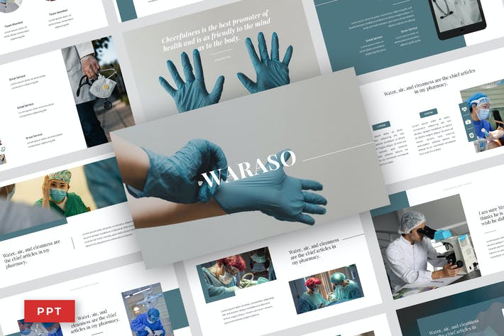 Waraso - Medical Service Power Point Template