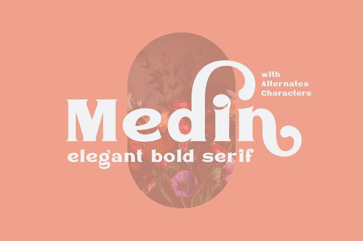 Thumbnail for Medin - Elegante fuente Con serifa