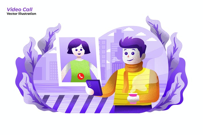 Thumbnail for Video Call - Vector Illustration