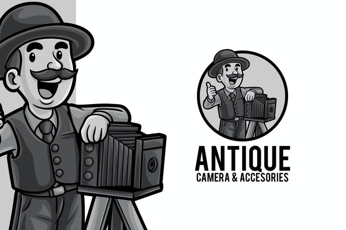 Thumbnail for Camera Store Logo Maskottchen Vorlage