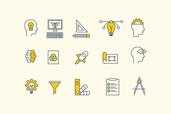 Thumbnail for 15 Design Thinking Icons