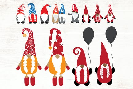 Gnomes illustrations - vector pack