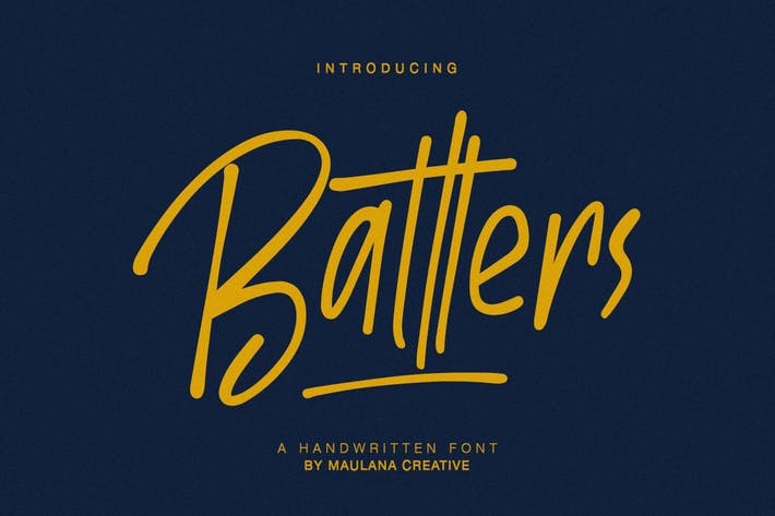 Thumbnail for Batllers Handwritten Font