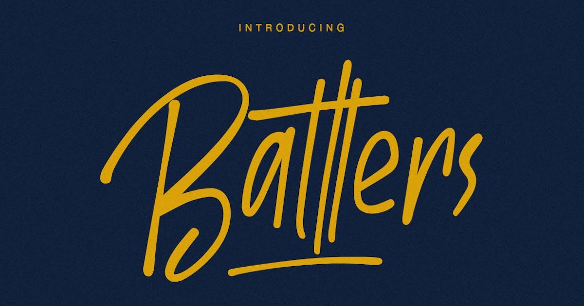 Download Batllers Handwritten Font by maulanacreative