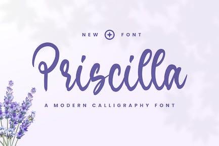 Priscilla - Шрифт Instagram