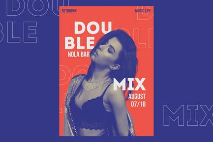 Double Mix Flyer Poster