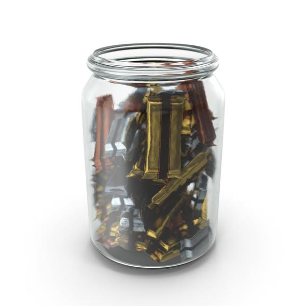 Баночка с обернутыми конфетами