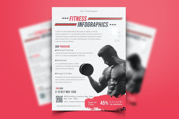 Cover Image For Gym & Fitness Flyer-06