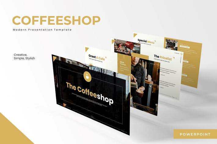 Thumbnail for The Coffeeshop - Powerpoint Template