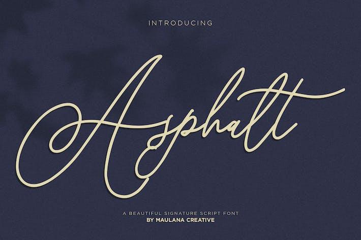 Thumbnail for Asphalt Signature Font