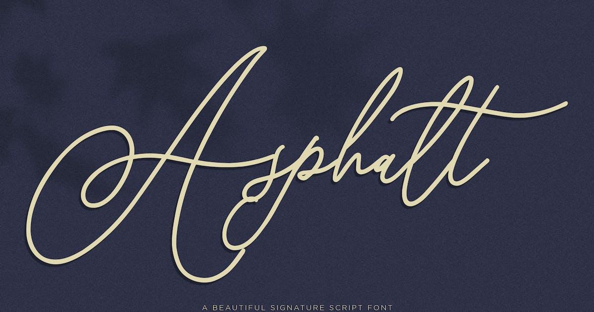 Download Asphalt Signature Font by maulanacreative