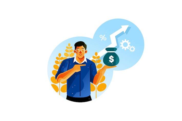 Erfolgreiche Unternehmer steigern die Gewinne