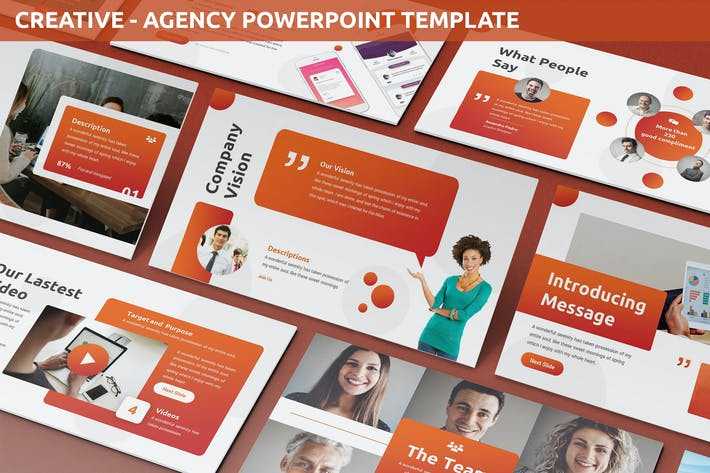 Thumbnail for Creative - Agency Powerpoint Template