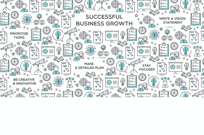 Thumbnail for Successful Business Growth Vector Illustration