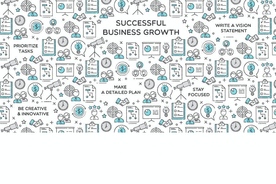 Ilustración exitosa del Vector de crecimiento Negocios