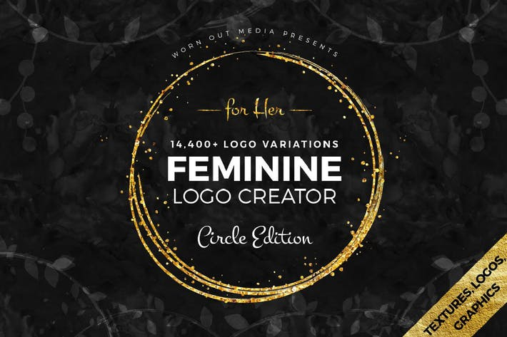 Thumbnail for Feminine Logo Creator Circle Edition