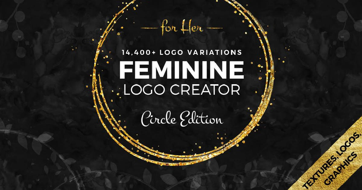 Download Feminine Logo Creator Circle Edition by MPFphotography